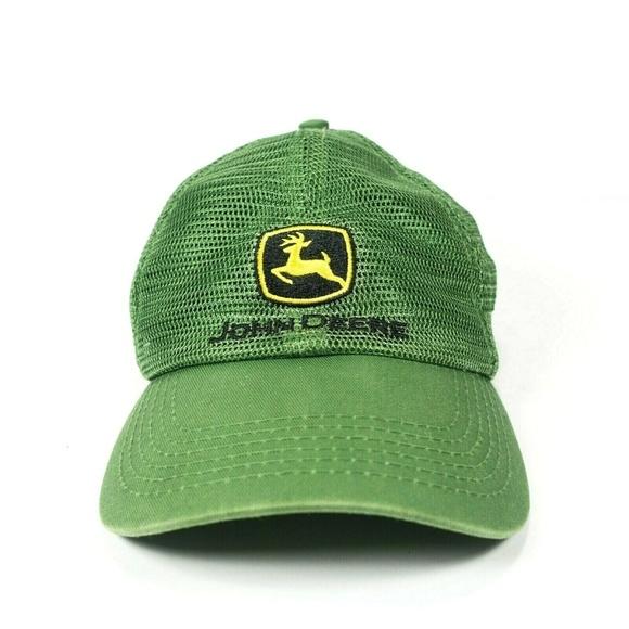 f221039cc630d9 John Deere Accessories | Trucker Hat Unstructured Mesh Green | Poshmark
